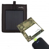 A3E 1.5W MINI USB SOLAR KIT (1.5W Solar +  1,350Mah USB Battery + Pouches)